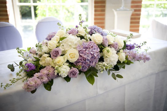Beautiful Ivory And Lilac Wedding Flowers At Great Fosters In Surrey