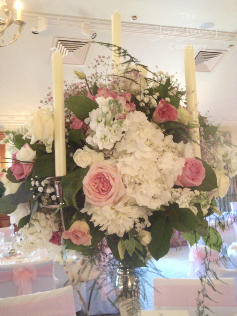 Pennyhill Park wedding flowers - Pretty in Pink