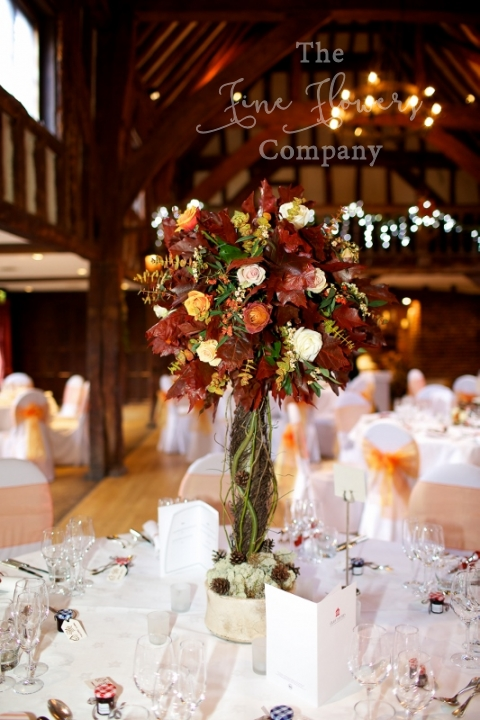 Burnished Leaves Great Fosters Autumn Wedding Flowers Photos