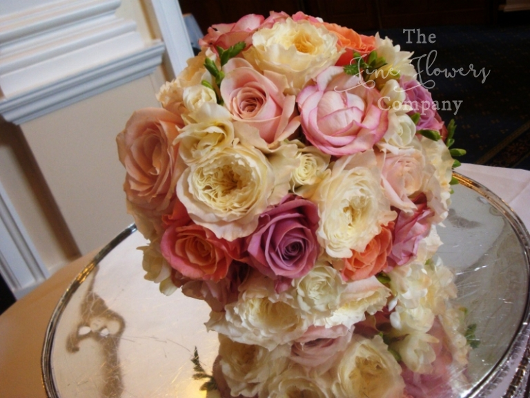 David Austin roses bridal bouquet