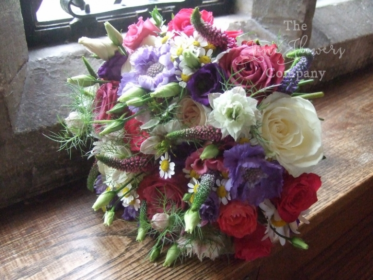 wild flowers bouquet from Great Fosters wedding in Surrey