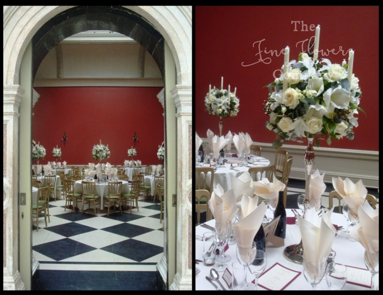 Hampton Court House wedding flowers reception photos