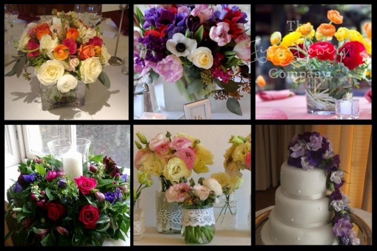 Spring wedding flowers ideas with anemones and ranunculus, Spring wedding bouquet, spring wedding cenetrepieces