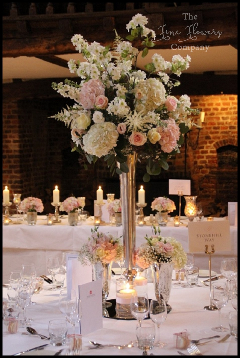 Great Fosters Wedding Flowers Blush Silver Spring Wedding The