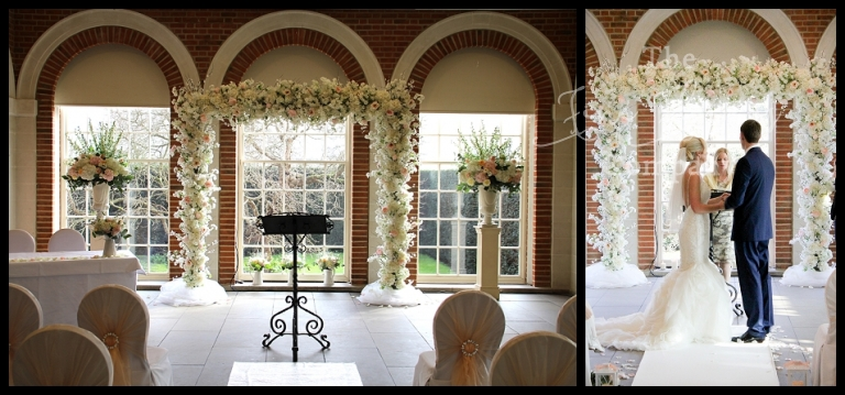 Wedding flowers arch hire the fine flower company wedding wedding ceremony flowers at great fosters great fosters florist floral arch hire great fosters junglespirit Images