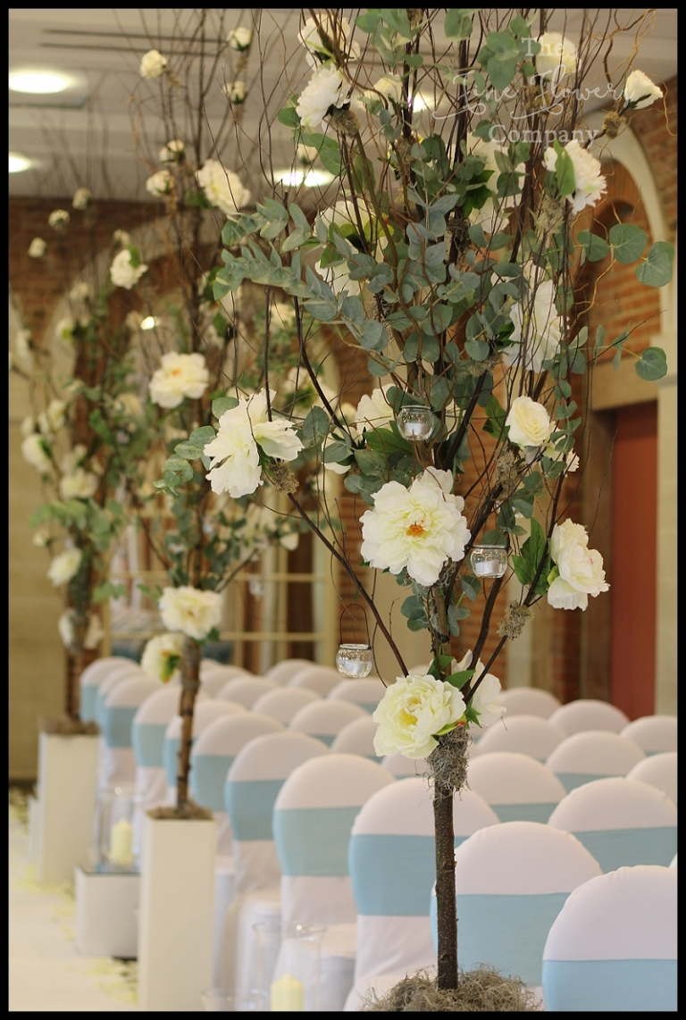 Beautiful Tree Lined Aisle At Great Fosters Wedding The