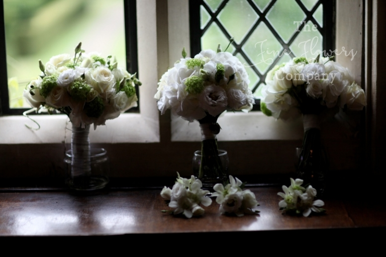 Great Fosters bridal and bridesmaids bouquets from Great Fosters wedding florist