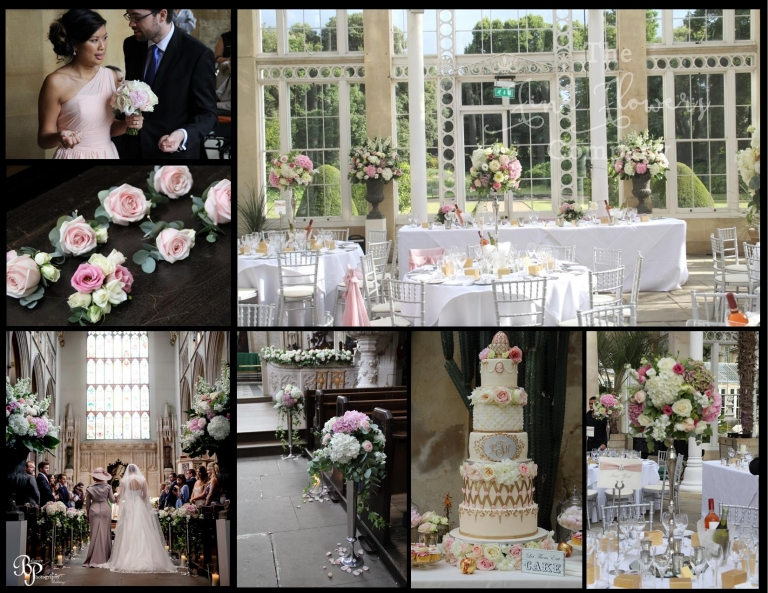 syon park wedding flowers, St Lukes Church wedding flowers, florist.
