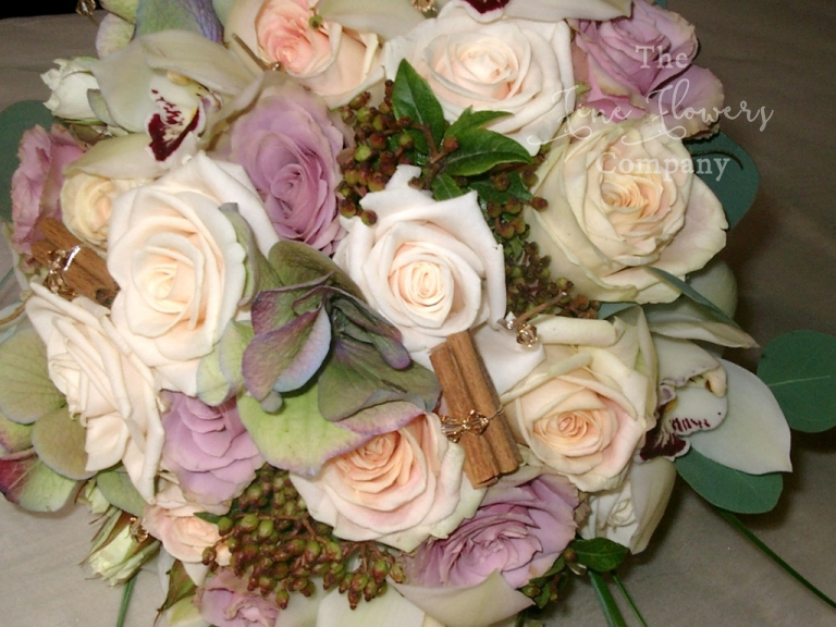 Vendella and Old Dutch bridal bouquet from Wotton House wedding