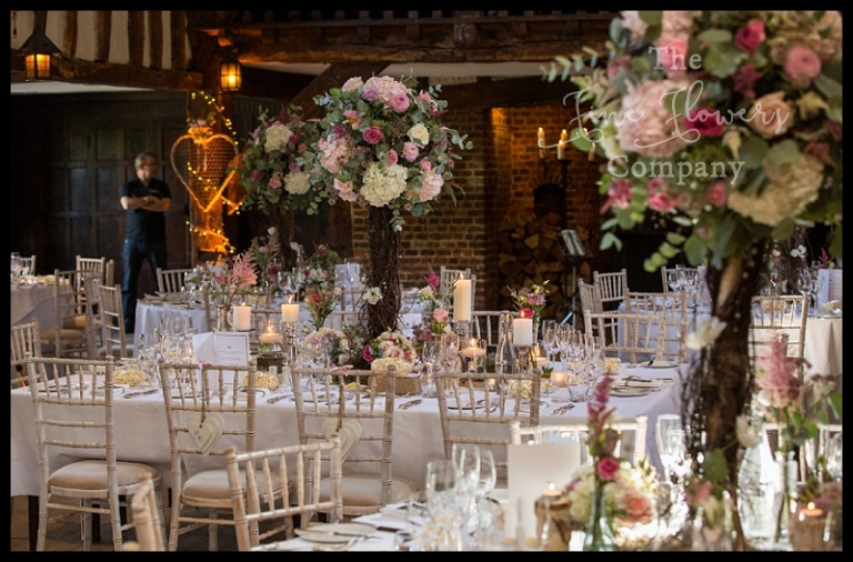 Rustic Wedding Centrepieces Great Fosters Florist Whimsical Flowers Surrey