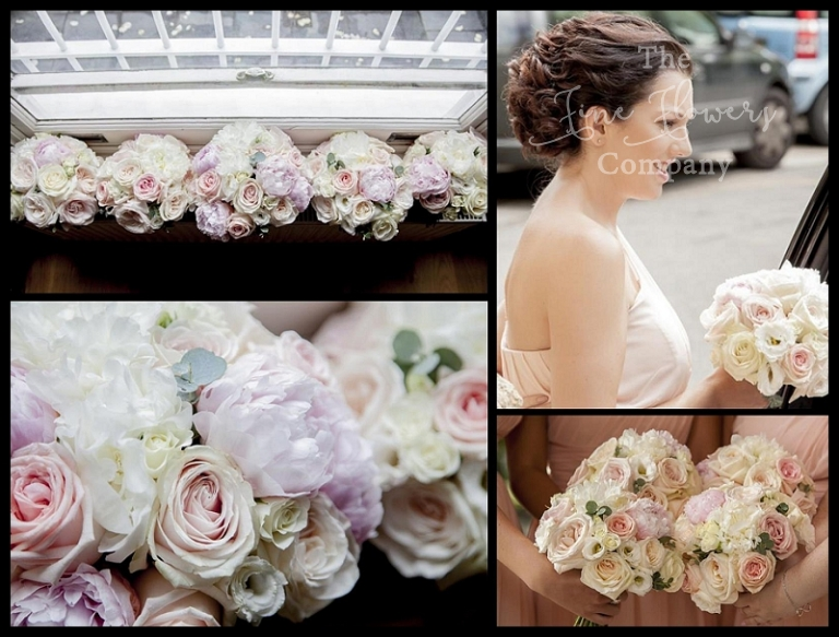 ivory and blush pink wedding bridesmaids bouquets