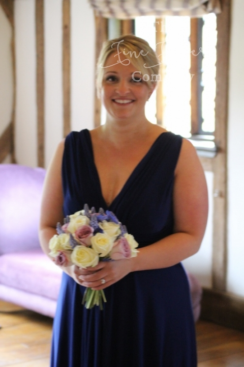 midnight blue bridesmaids wedding flowers from Cain Manor wedding in Hampshire