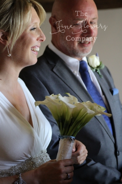 calla lily handtied bouquet from Cain Manor wedding in Hampshire
