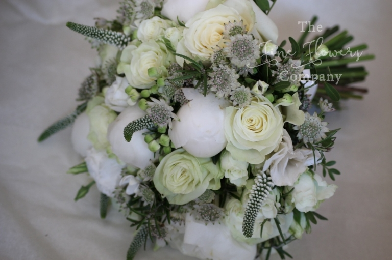 Just picked bridal bouquet, Berkshire florist. From Coworth Park wedding reception