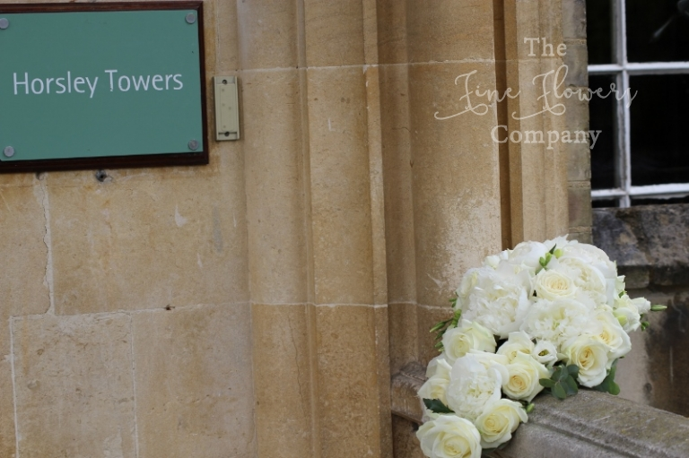 Horsley Towers wedding, Surrey, wedding Surrey florist