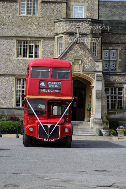 Horsley Towers wedding bus, from Horsley Towers wedding, Surrey