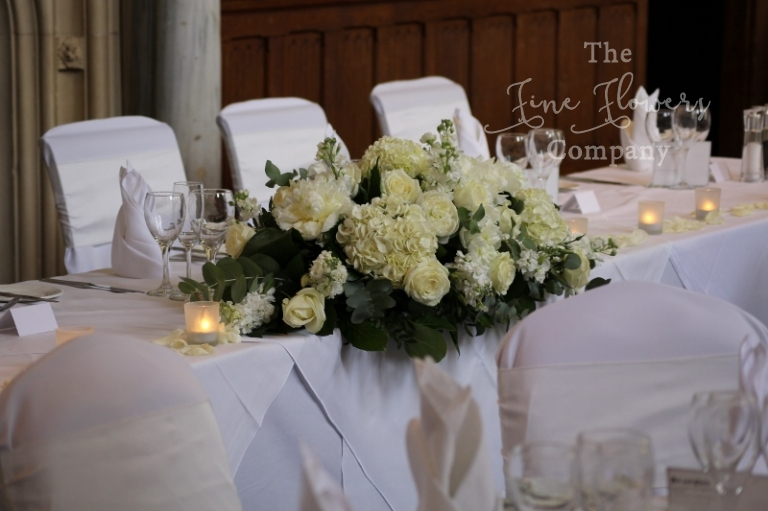 Surrey Top Table Wedding Flowers Centrepiece From Horsley Towers