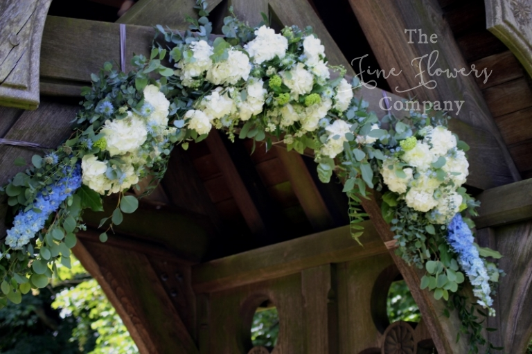 lytch gate wedding flowers at St Barnabas church in Ranmore