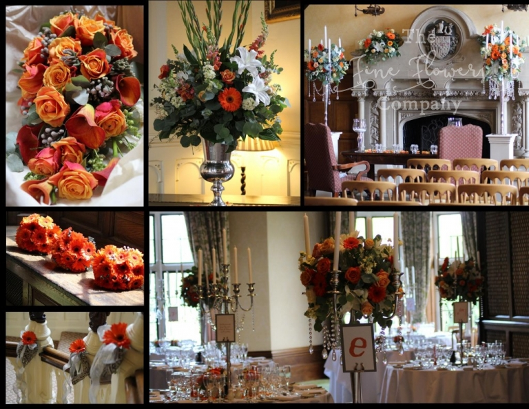Elvetham Hotel wedding florist photos of bold summer wedding flowers