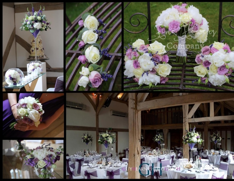Cain Manor wedding photos from Cain Manor florist. Icory & plum purple wedding flowers, wedding flowers Hampshire