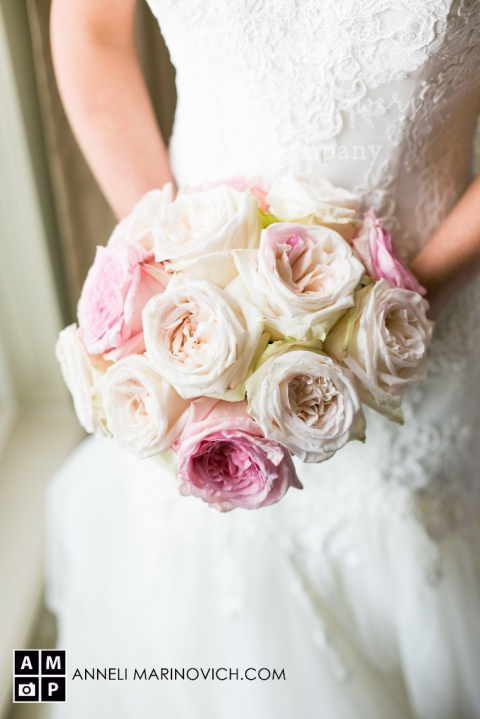 vintage roses bouquet for a lace dress, from Hampton Court House wedding