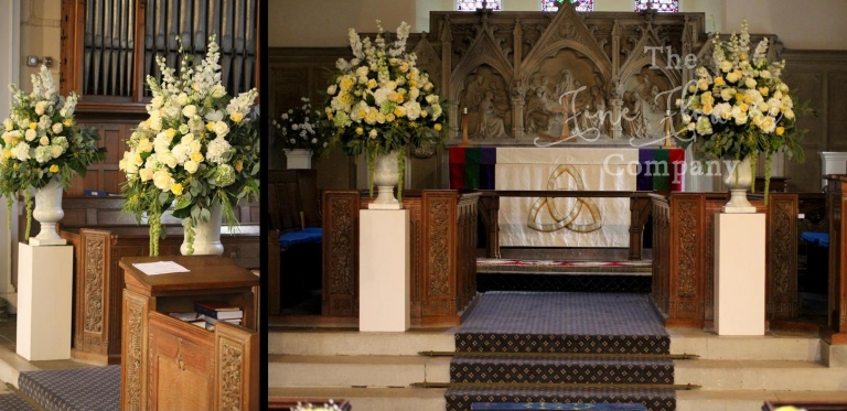 Holy Trinity church lyne longcross wedding flowers