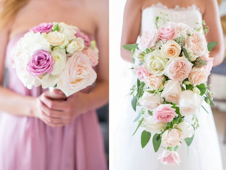 bridal and bridesmaids bouquets from Highclere Castle wedding