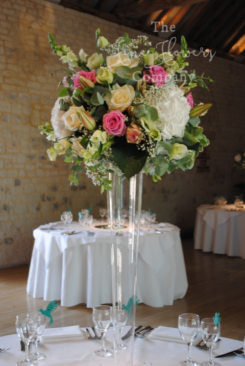 Pretty Bury Court Barn Wedding Flowers Pink Amp Teal Wedding