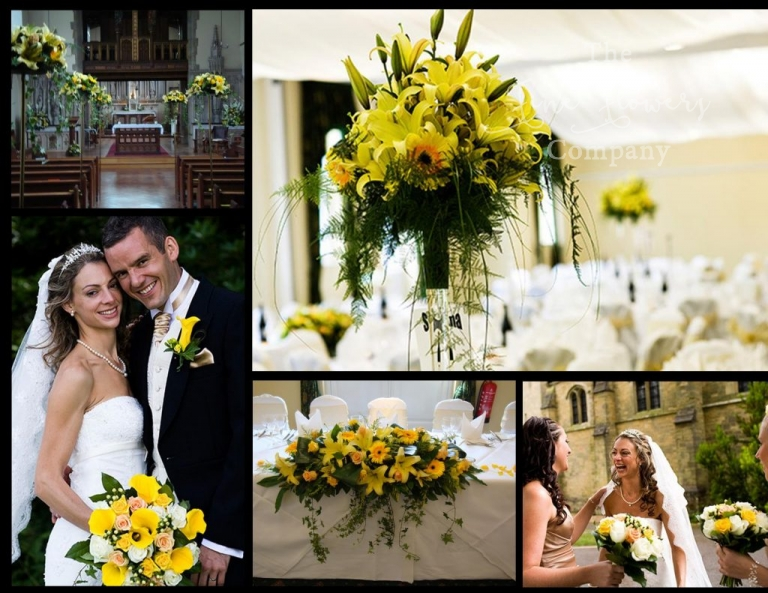 wotton House wedding flowers - yellow wedding flowers, Surrey wedding flowers