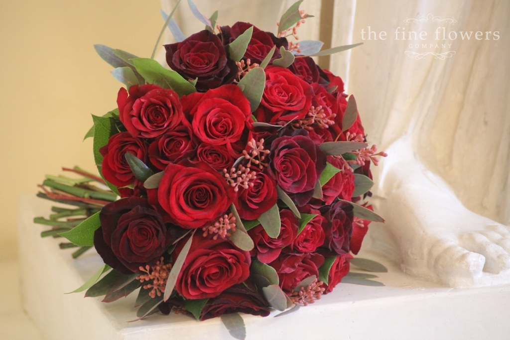 Christmas Wedding At Botleys Mansion Passion Red Flowers The Fine Flowers Company Surrey