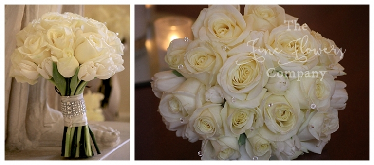 white roses and tulips winter bouquet