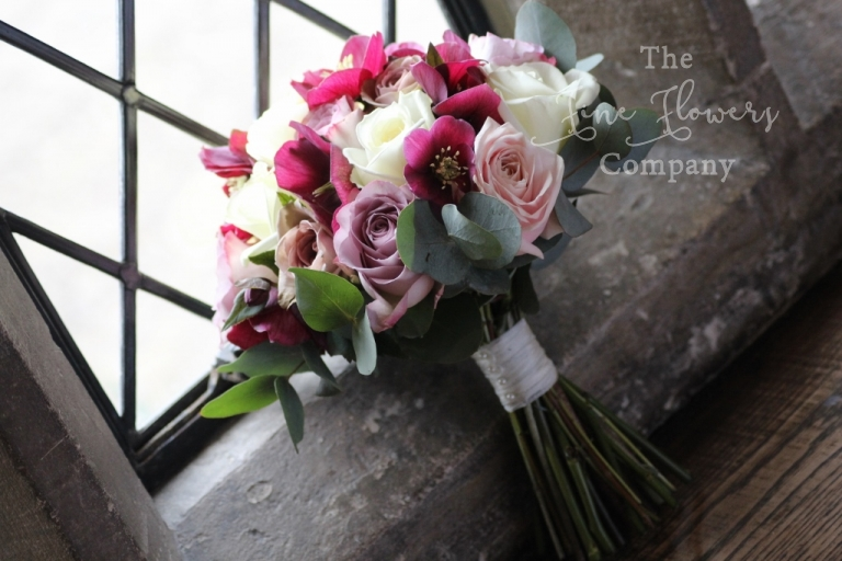 Beautiful ivory and dusky pink wedding flowers at great fosters bridal bouquet ivory and dusky pink bouquet of avalanche roses coolwater mightylinksfo