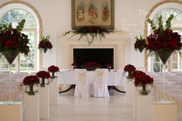 Northbrook park wedding flowers florist photos of the ceremony aisle