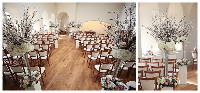 wedding aisle at farnham castle
