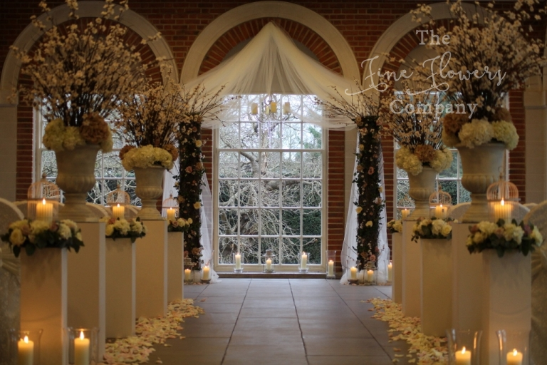 Great Fosters wedding photos arch canopy chuppah