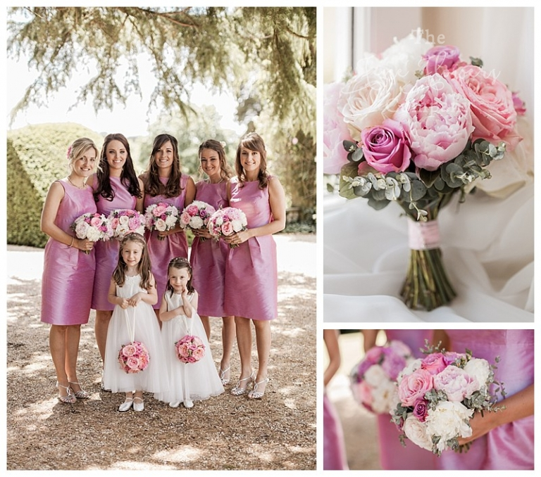bride and bridesmaids at northbrook park wedding