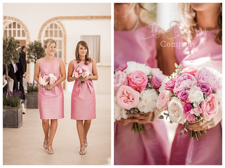 dusty pink bridesmaids flowers bouquets posies.