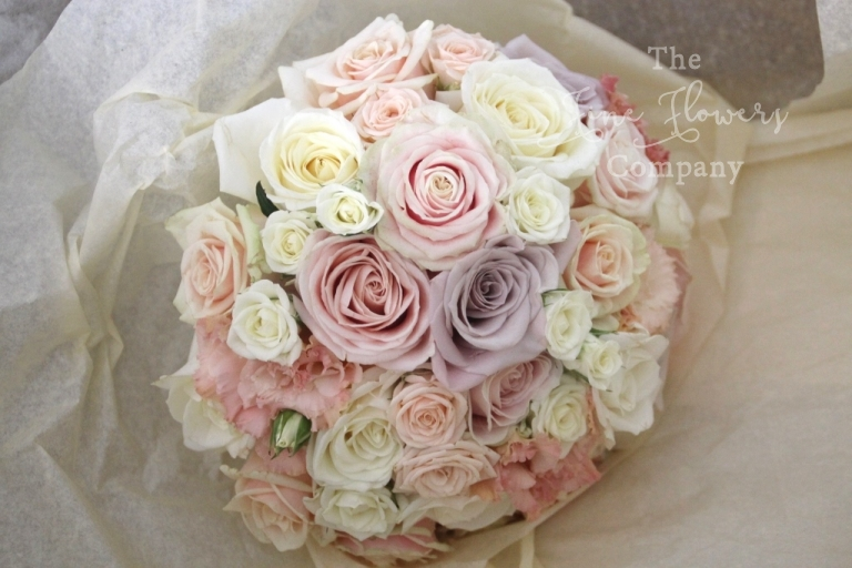 Nude blush pink wedding flowers at great fosters in surrey nude blush pink bridal bouquet round vintage rose bridal bouquet mentha roses mightylinksfo