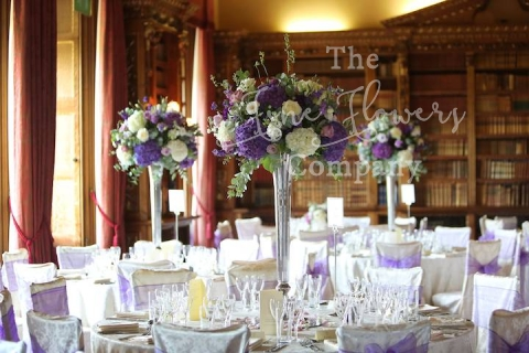 Purple Lilac Wedding Flowers At Highclere Castle