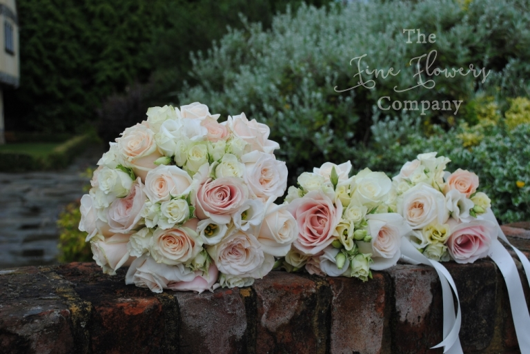 ivory, cream and pale blush wedding bouquets, bridal bouquet of talea, vendella, sweet avalanche roses, ivory and cream and blush bridal bouquet