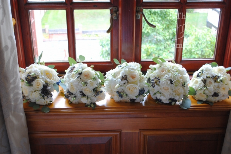 pennyhill park bridal flowers - From wedding reception at Pennyhill Park. Pennyhill Park wedding flowers. Pennyhill park wedding.
