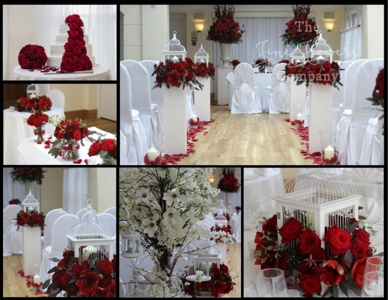 pembroke lodge wedding, pembroke lodge wedding flowers, pembroke lodge ceremony, red wedding flowers, aisle wedding flowers, belvedere suite wedding ceremony, richmond florist, grand prix roses wedding, amazing wedding aisle, bird cage centrepieces, wedding flower trees.