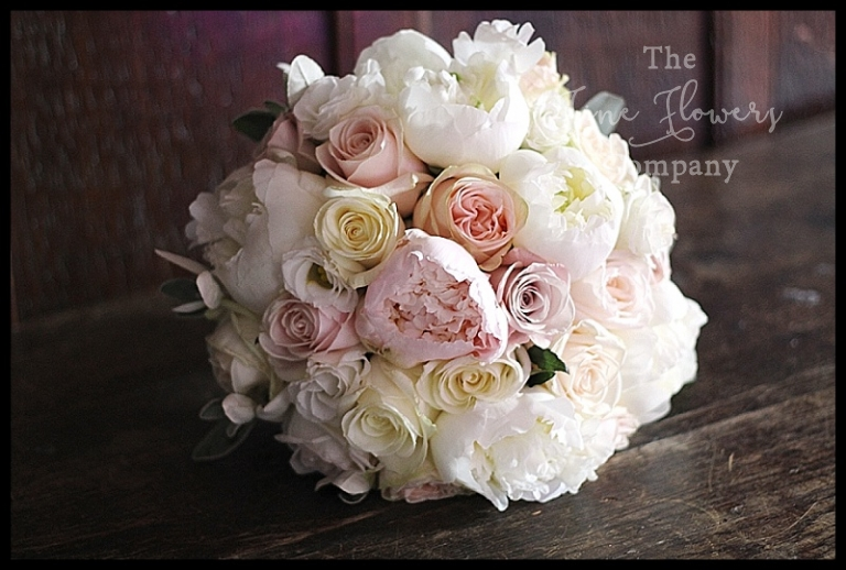 roses andal bouquet, ivory, blush and nude pink