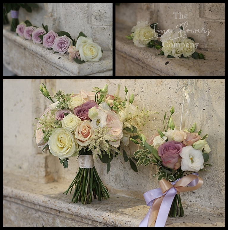 With Mentha Cream Lilac Blush And Nude Pink Wedding Bouquets Buttonholes Bridal Flowers Surrey