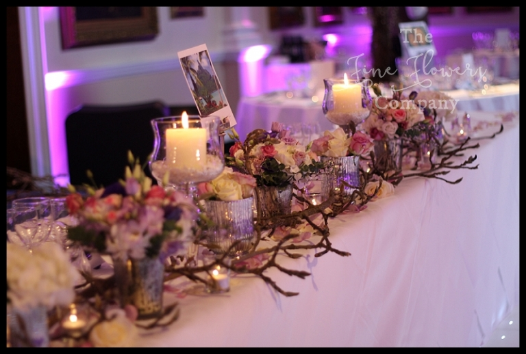 Special Enchanted Woodland Themed Wedding Flowers Top Table Forest With