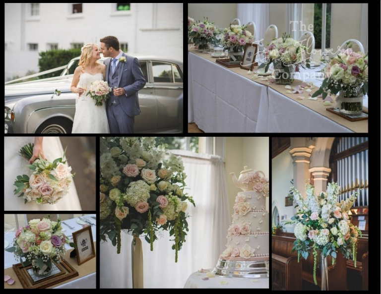 pembroke lodge wedding flowers from tea-party themed wedding in the belvedere at Pembroke Lodge. vintage ivory, cream and blush wedding flowers. Pembroke Lodge wedding florist.