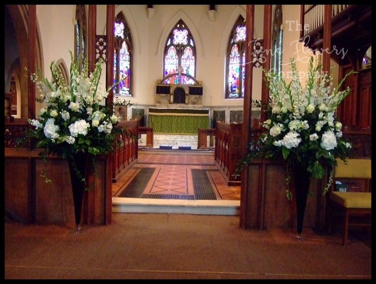 church ceremony flowers pedestals tall floor standing vases, white wedding flowers church ceremony,