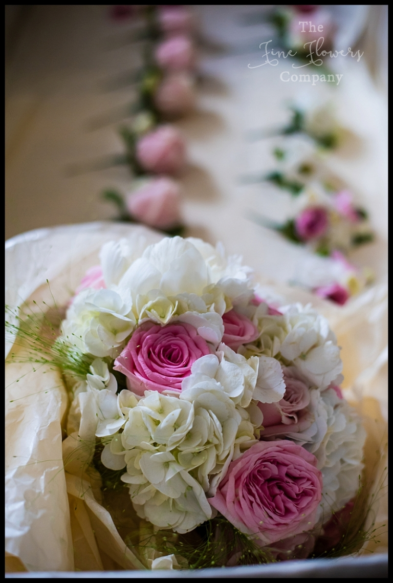 ivory and pink bridal flowers berkshire, Berkshire wedding, Berkshire bride