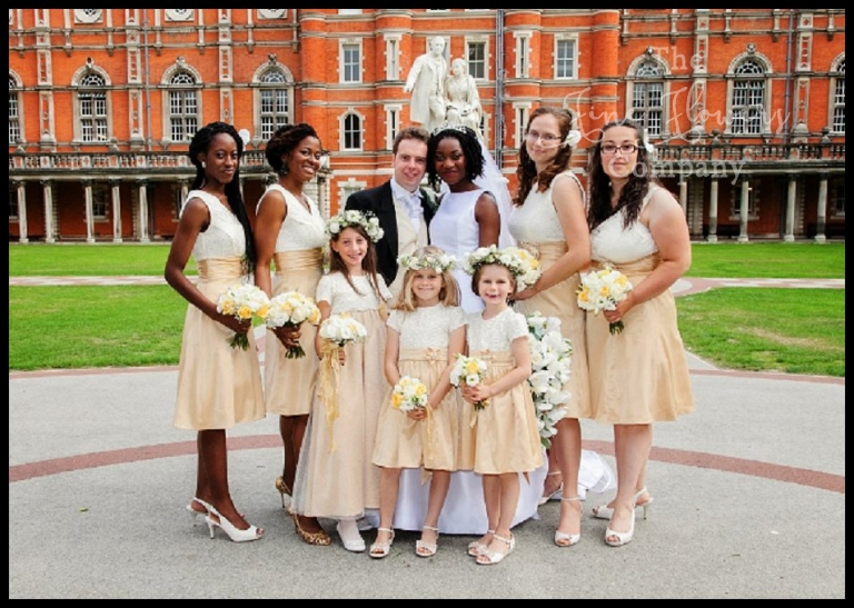 Ivory & Gold wedding at Royal Holloway - The Fine Flower Company