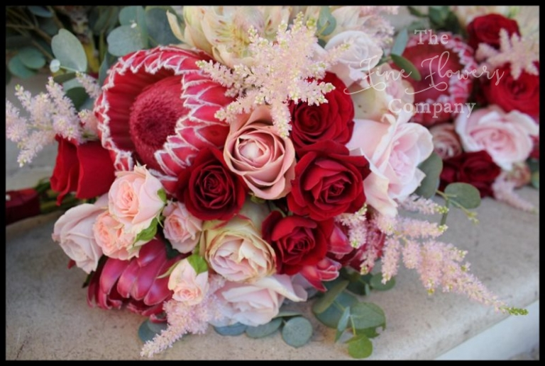 White Wedding Dress With Red Roses 67 Best  proteas and mini